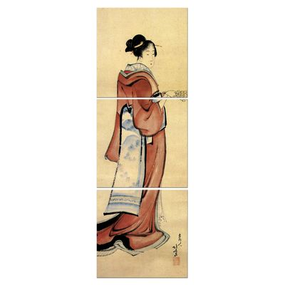 Leinwandbild - Alte Meister - Katsushika Hokusai - Geisha – Bild 3