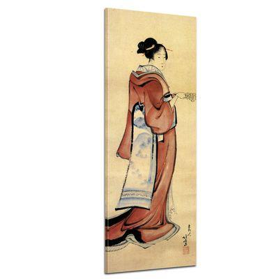 Leinwandbild - Alte Meister - Katsushika Hokusai - Geisha – Bild 1