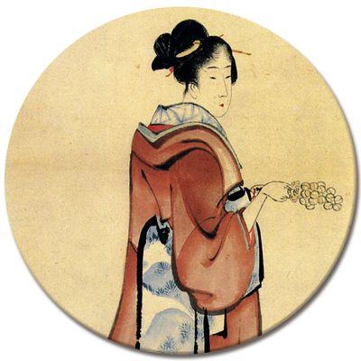 Kunstdruck - Alte Meister - Katsushika Hokusai - Geisha – Bild 4