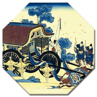 Leinwandbild - Alte Meister - Katsushika Hokusai - Der Ochsenkarren – Bild 9