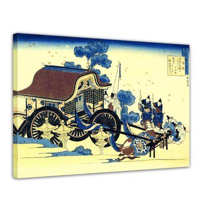Kunstdruck - Alte Meister - Katsushika Hokusai - Der Ochsenkarren – Bild 1