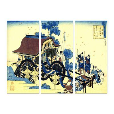 Leinwandbild - Alte Meister - Katsushika Hokusai - Der Ochsenkarren – Bild 6