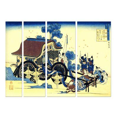 Leinwandbild - Alte Meister - Katsushika Hokusai - Der Ochsenkarren – Bild 4