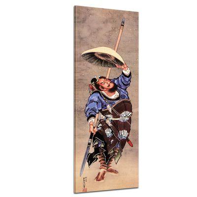 Kunstdruck - Alte Meister - Katsushika Hokusai - Samurai – Bild 1