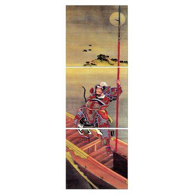 Leinwandbild - Alte Meister - Katsushika Hokusai - Krieger im Boot – Bild 3