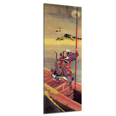 Leinwandbild - Alte Meister - Katsushika Hokusai - Krieger im Boot – Bild 1