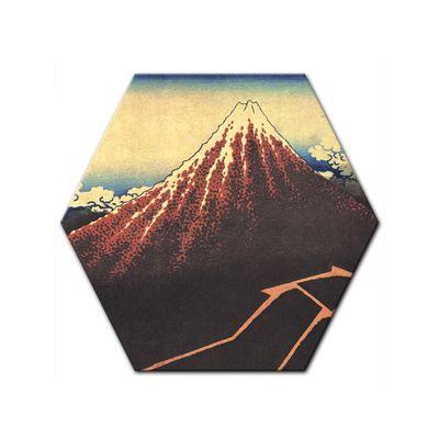 Leinwandbild - Alte Meister - Katsushika Hokusai - Gewitter unterhalb des Gipfels – Bild 8