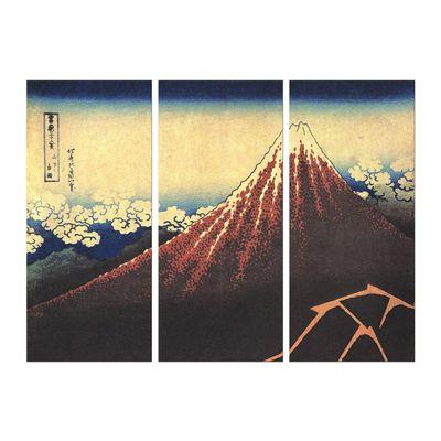 Kunstdruck - Alte Meister - Katsushika Hokusai - Gewitter unterhalb des Gipfels – Bild 5