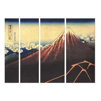 Leinwandbild - Alte Meister - Katsushika Hokusai - Gewitter unterhalb des Gipfels – Bild 2