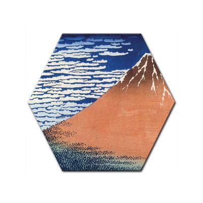 Leinwandbild - Alte Meister - Katsushika Hokusai - Roter Fuji – Bild 5