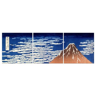 Leinwandbild - Alte Meister - Katsushika Hokusai - Roter Fuji – Bild 6