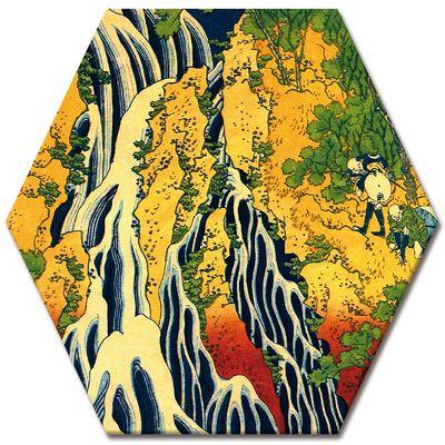 Leinwandbild - Alte Meister - Katsushika Hokusai - Pilger beim Kirifuri Wasserfall – Bild 5