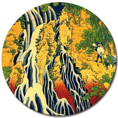Kunstdruck - Alte Meister - Katsushika Hokusai - Pilger beim Kirifuri Wasserfall – Bild 3
