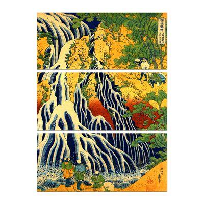 Leinwandbild - Alte Meister - Katsushika Hokusai - Pilger beim Kirifuri Wasserfall – Bild 6