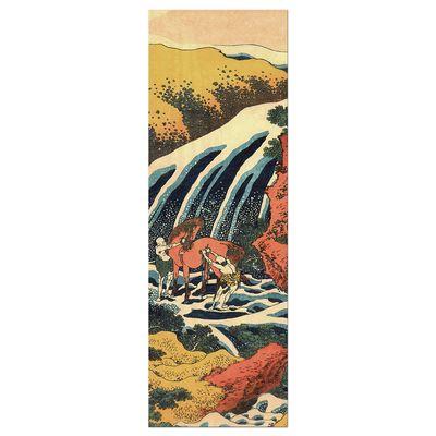 Leinwandbild - Alte Meister - Katsushika Hokusai - Yoshitsune Umarai Wasserfall – Bild 8