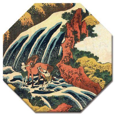 Leinwandbild - Alte Meister - Katsushika Hokusai - Yoshitsune Umarai Wasserfall – Bild 4