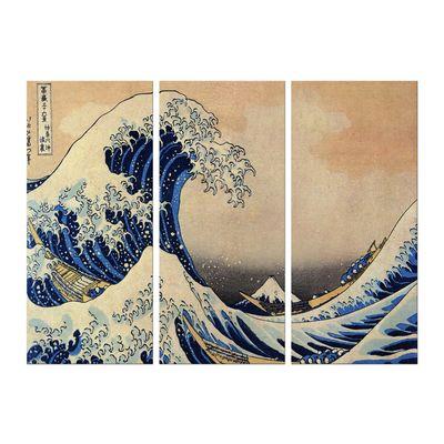 Leinwandbild - Alte Meister - Katsushika Hokusai - Die große Welle vor Kanagawa – Bild 9
