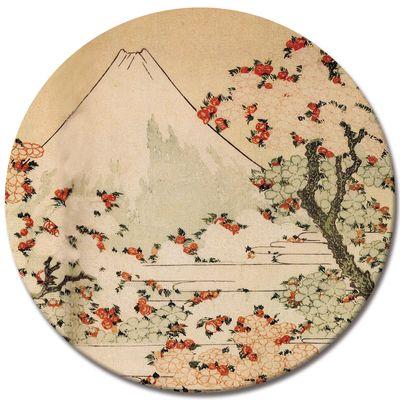 Kunstdruck - Alte Meister - Katsushika Hokusai - Blick auf den Fujijama mit blühenden Kirschbäumen – Bild 6
