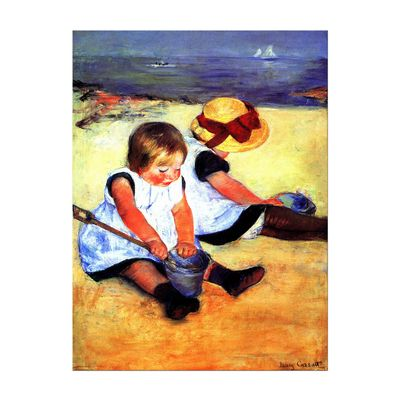 Mary Cassatt - Kinder am Strand – Bild 2