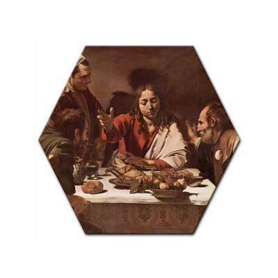 Leinwandbild - Alte Meister - Caravaggio - Das Abendmahl in Emmaus – Bild 4
