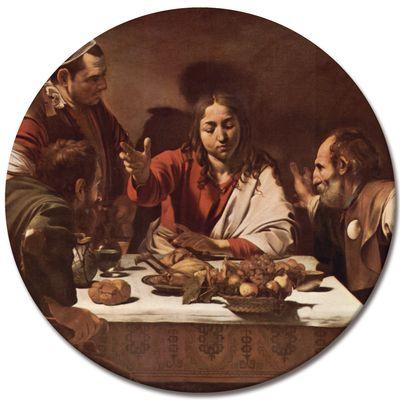 Leinwandbild - Alte Meister - Caravaggio - Das Abendmahl in Emmaus – Bild 3