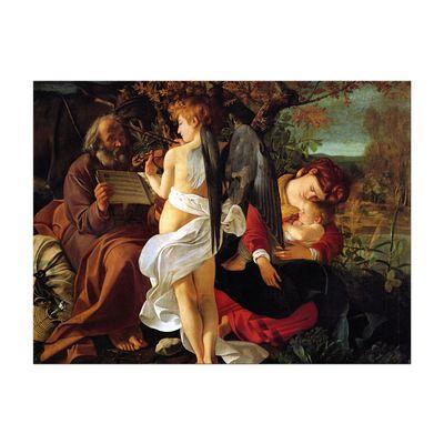 Leinwandbild - Alte Meister - Caravaggio - Ruhe auf der Flucht nach Ägypten – Bild 5