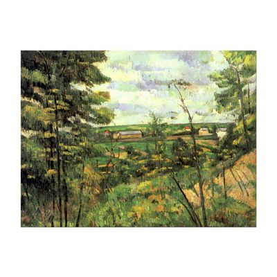 Kunstdruck - Alte Meister - Paul Cézanne - Das Tal der Oise – Bild 2