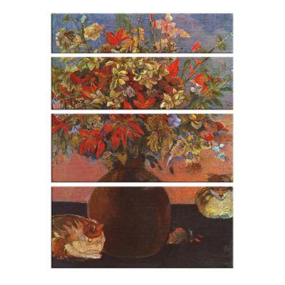 Kunstdruck - Alte Meister - Paul Gauguin - Blumen und Katzen – Bild 4