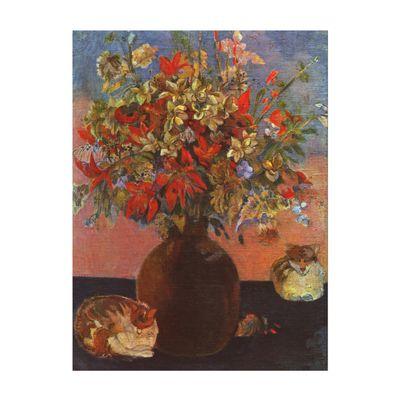 Kunstdruck - Alte Meister - Paul Gauguin - Blumen und Katzen – Bild 2