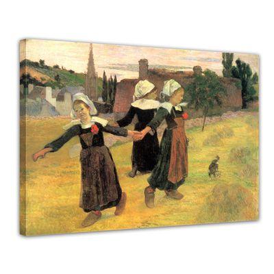 Leinwandbild - Alte Meister - Paul Gauguin - Der Reigen der kleinen Bretonninen – Bild 1