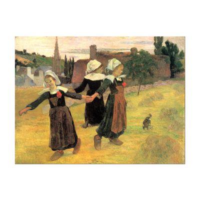 Leinwandbild - Alte Meister - Paul Gauguin - Der Reigen der kleinen Bretonninen – Bild 2