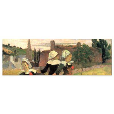 Leinwandbild - Alte Meister - Paul Gauguin - Der Reigen der kleinen Bretonninen – Bild 5