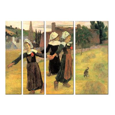 Kunstdruck - Alte Meister - Paul Gauguin - Der Reigen der kleinen Bretonninen – Bild 4