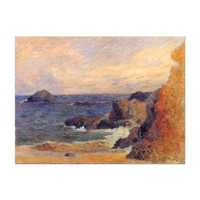 Leinwandbild - Alte Meister - Paul Gauguin - Felsige Meerküste – Bild 2