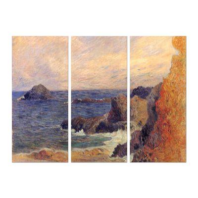 Leinwandbild - Alte Meister - Paul Gauguin - Felsige Meerküste – Bild 6