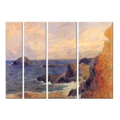 Leinwandbild - Alte Meister - Paul Gauguin - Felsige Meerküste – Bild 4
