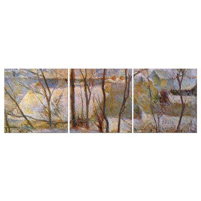 Leinwandbild - Alte Meister - Paul Gauguin - Garten im Schnee – Bild 5