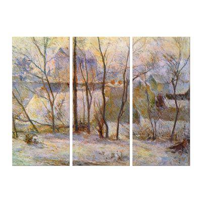 Leinwandbild - Alte Meister - Paul Gauguin - Garten im Schnee – Bild 4