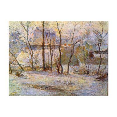 Leinwandbild - Alte Meister - Paul Gauguin - Garten im Schnee – Bild 2
