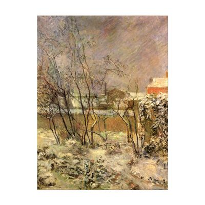 Leinwandbild - Alte Meister - Paul Gauguin - Schnee in der Rue Carcel – Bild 2