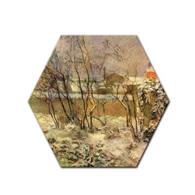 Leinwandbild - Alte Meister - Paul Gauguin - Schnee in der Rue Carcel – Bild 5
