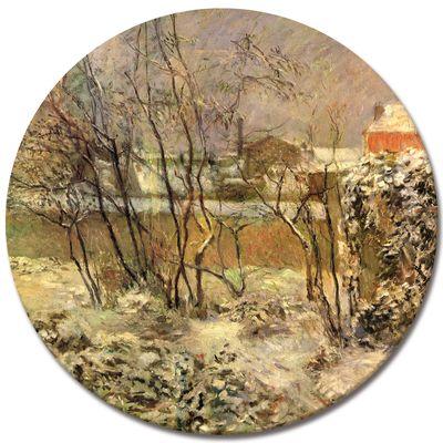 Leinwandbild - Alte Meister - Paul Gauguin - Schnee in der Rue Carcel – Bild 3