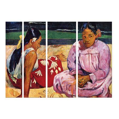 Leinwandbild - Alte Meister - Paul Gauguin - Frauen am Strand – Bild 4