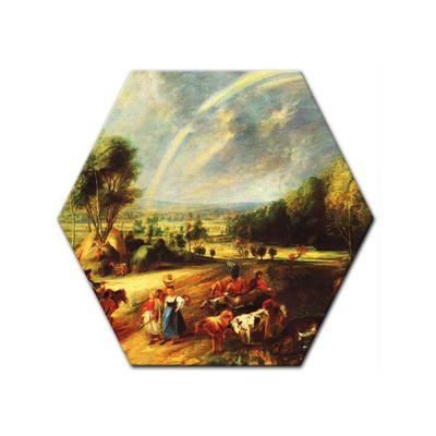 Kunstdruck - Alte Meister - Peter Paul Rubens - Landschaft mit dem Regenbogen – Bild 6