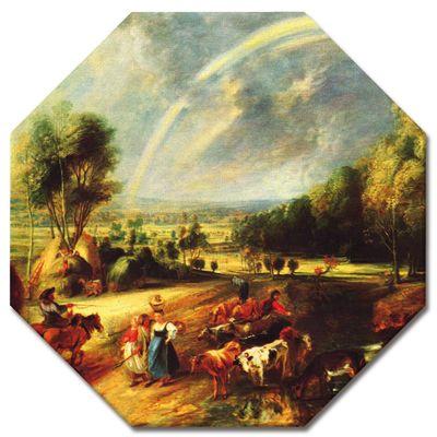 Kunstdruck - Alte Meister - Peter Paul Rubens - Landschaft mit dem Regenbogen – Bild 8