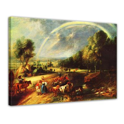 Kunstdruck - Alte Meister - Peter Paul Rubens - Landschaft mit dem Regenbogen – Bild 1
