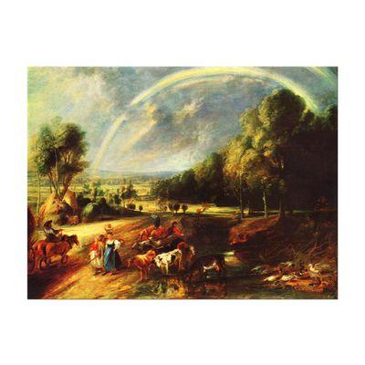 Kunstdruck - Alte Meister - Peter Paul Rubens - Landschaft mit dem Regenbogen – Bild 2