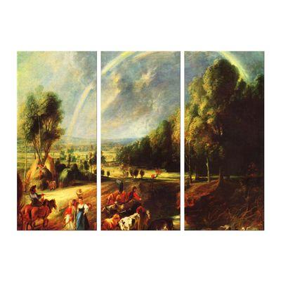 Kunstdruck - Alte Meister - Peter Paul Rubens - Landschaft mit dem Regenbogen – Bild 4