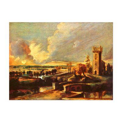 Peter Paul Rubens - Landschaft mit dem Turm des Schlosses Stehen – Bild 2