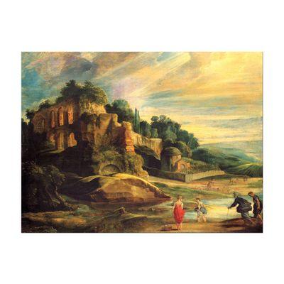Kunstdruck - Alte Meister - Peter Paul Rubens - Landschaft mit den Ruinen des Hügels Palatin in Rom – Bild 2